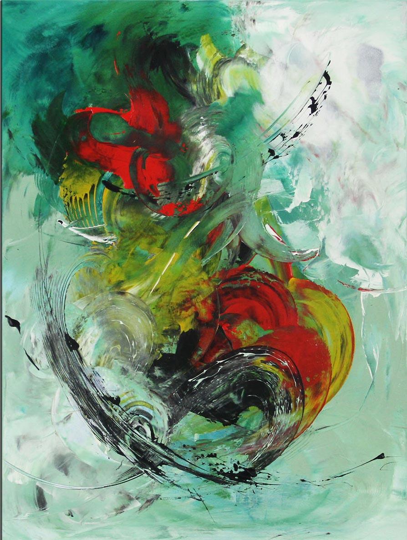 Abstrakte Acrylmalerei von Christiane Middendorf