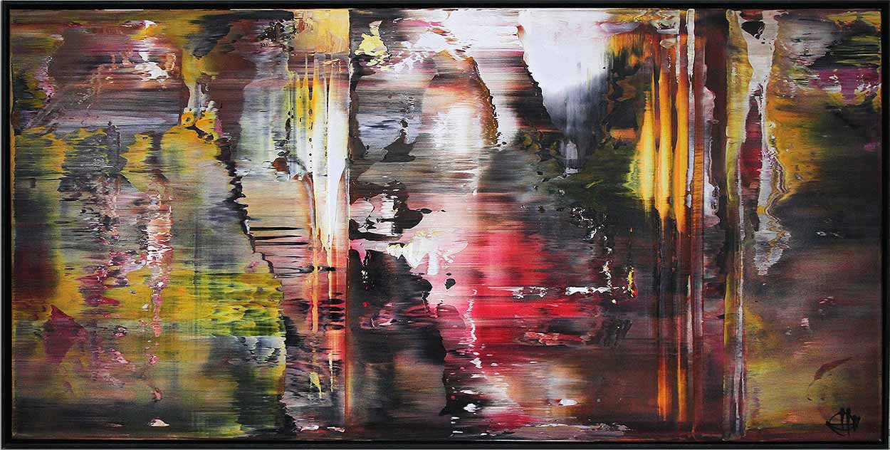 Abstrakte Malerei, gerahmt