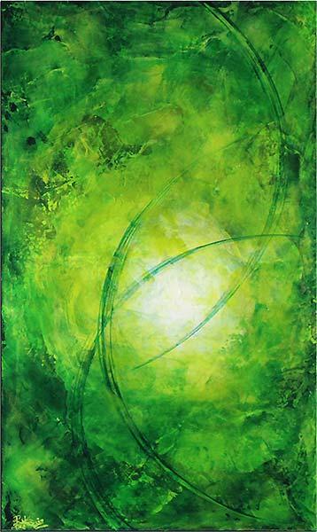 Abstrakte Kunst in grün