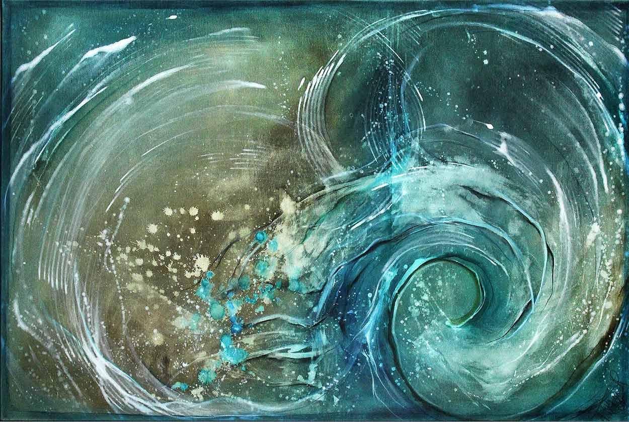 Abstrakte malerei von A. Freymuth