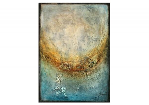 "Originalgemälde (Unikat), A. Freymuth: ""Übergang"", Acrylmalerei abstrakt (A)"