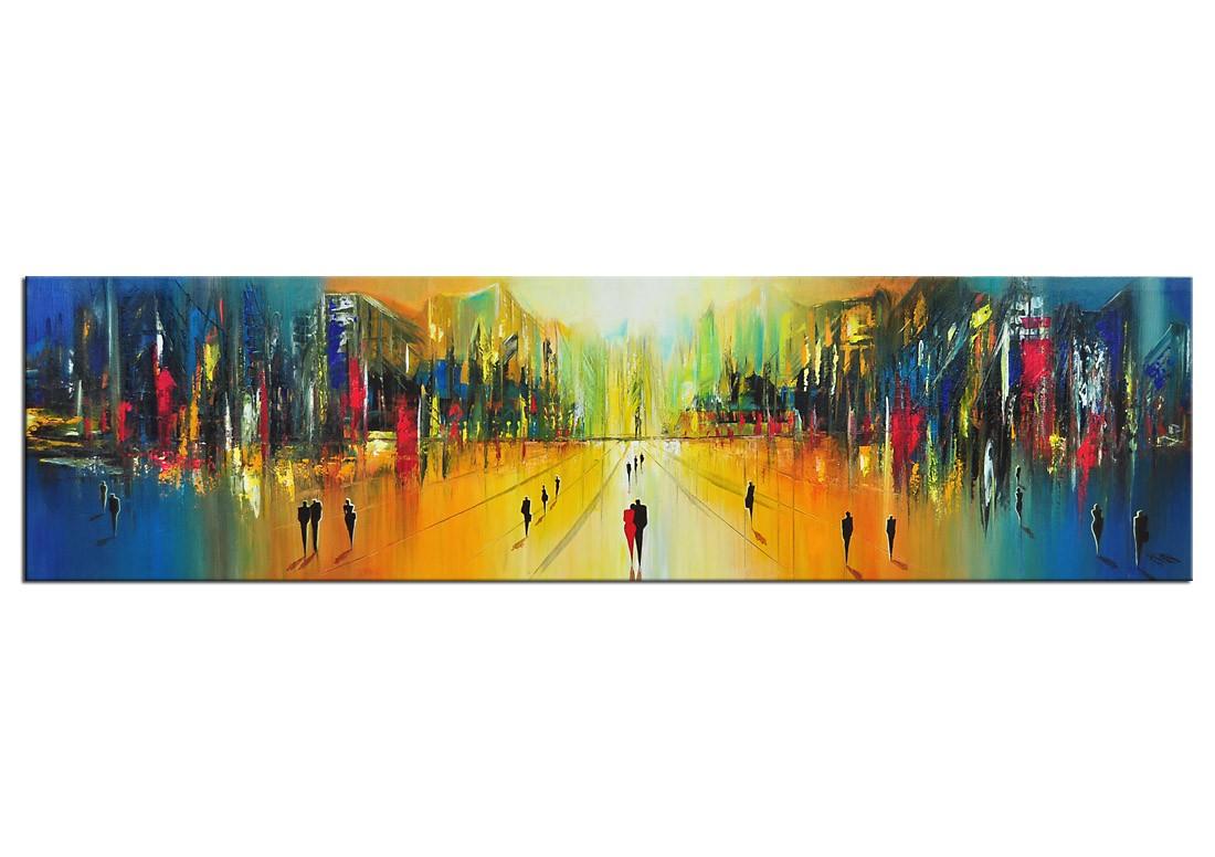 moderne bilder k namazi morgendlicher prachtboulevard e verkaufte kunstwerke die galerie acrylbilder abstrakt acrylbilder galerie kunst - Moderne Bder