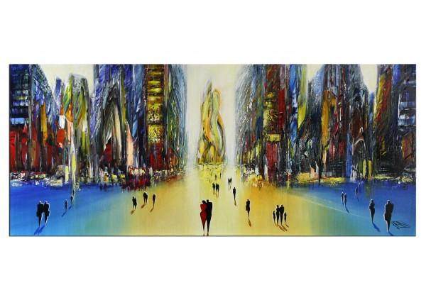"Modernes Gemälde, K. Namazi: ""Urbane Mystik I"", Originalgemälde (Unikat) (A)"