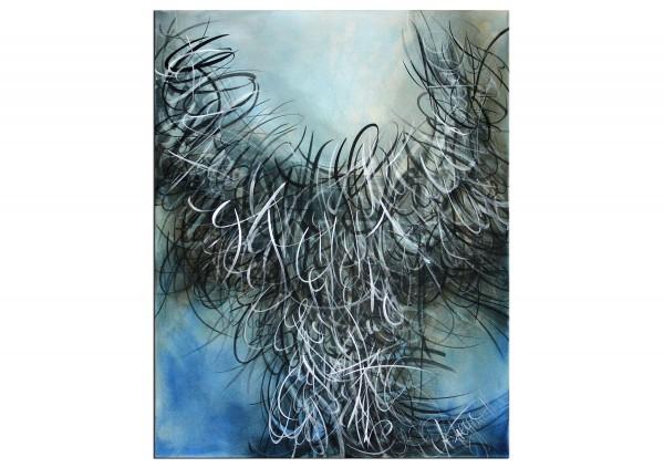 """Abstrakte Acrylbilder, A. Freymuth: """"Geflügelte Worte"""" (A)"""