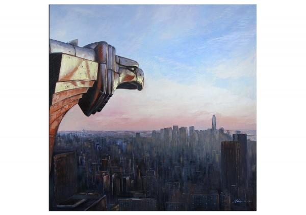 """Zeitgenössische Malerei von Uwe Fehrmann: """"New York (Chrysler Building)"""" (A)"""