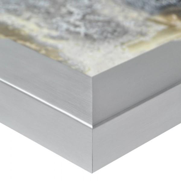 Premium Bilderrahmen, Fotorahmen silber HR-401062-sg, inkl. entspiegeltem Echtglas