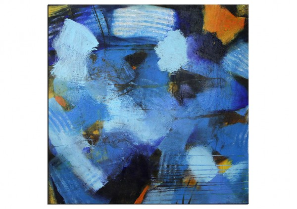 Acrylbilder Abstrakt M Rick Dancing Blue Patches Martina