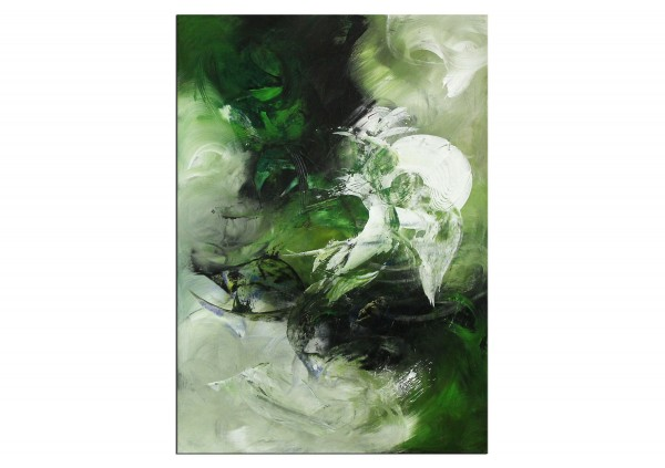 "Abstrakte Acrylmalerei, C. Middendorf: ""Aufgehende Saat IV"" (A)"