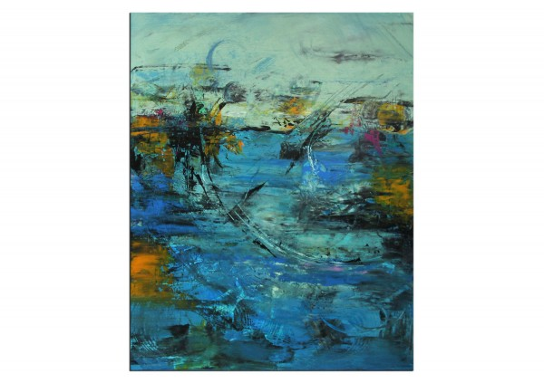 "Abstrakte Acrylmalerei, C. Middendorf: ""Regenwald IV"""