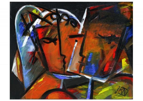 """Abstrakte Kunstbilder, K. Namazi: """"Stilisierte Vertrautheit I"""""""