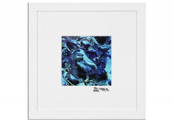 "Abstrakte Edition, signierter Kunstdruck, Raphael König: ""Reality vs. Mayan Priest II"""