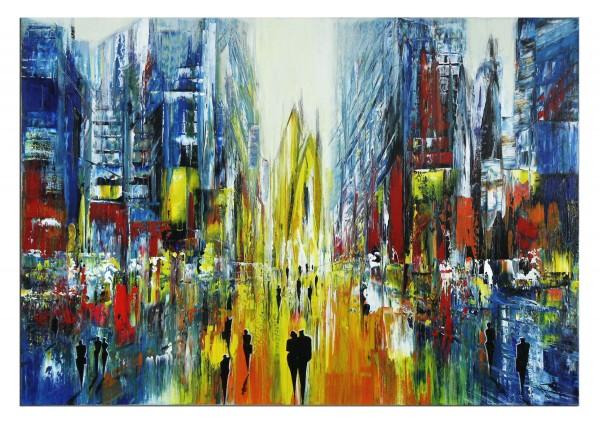 "Moderne Kunst von K. Namazi: ""Urbanes Prisma II"" (A)"