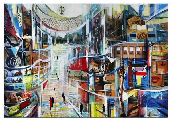 "Modernes Gemälde, K. Namazi: ""Konsum vs. Kultur"" (ri)"