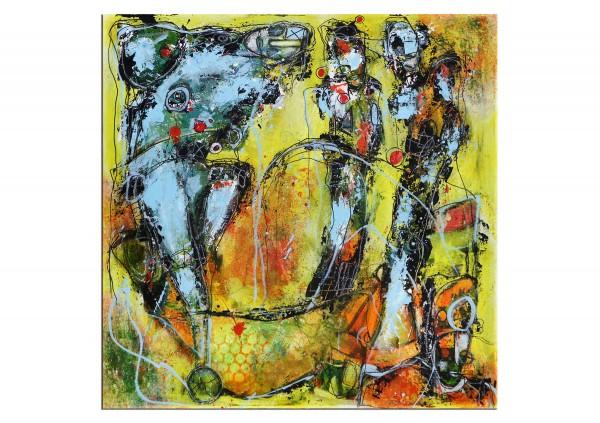 """Moderne Acrylmalerei, I. Schmidt: """"Globetrotter"""" (A)"""