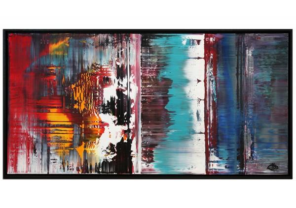 "Acrylgemälde, G. Hung: ""Lichtbarriere I"" (ri)"