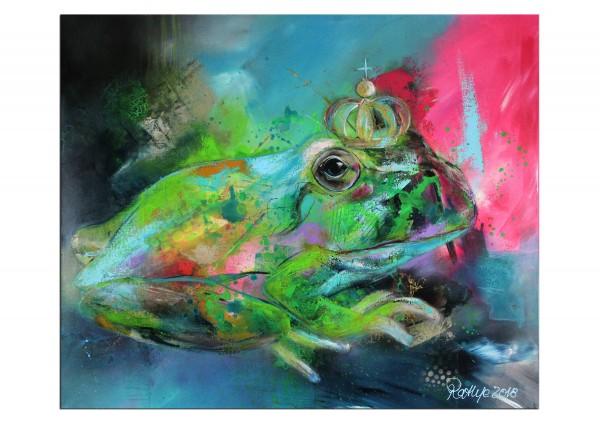 "Moderne Malerei, M. Rathje: ""Sei kein Frosch"", Originalgemälde (Unikat) (A,G)"