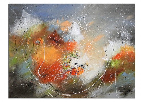 "Gemälde abstrakt, Maya: ""HERBSTSTURM"""
