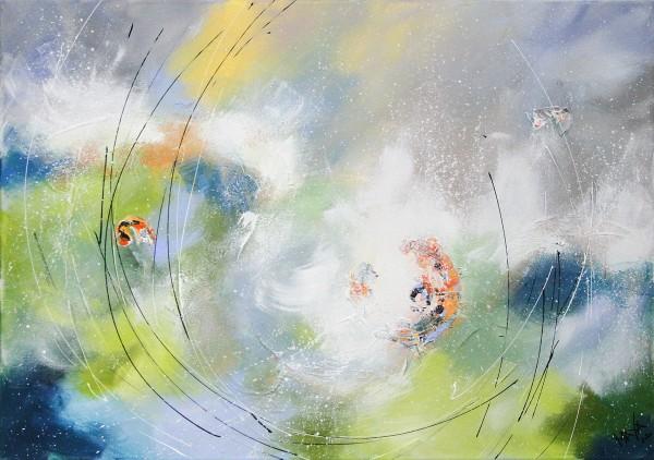 "Maya: ""Frühlingswind"", Originale Acrylbilder (Unikat)"