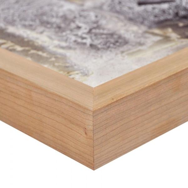 Premium Bilderrahmen Holz Kirsche HR-M2545A35-k, inkl. Blendrahmbleche