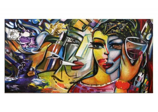 """Modernes Gemälde, K. Namazi: """"Liebesbotschaft"""" (ri)"""