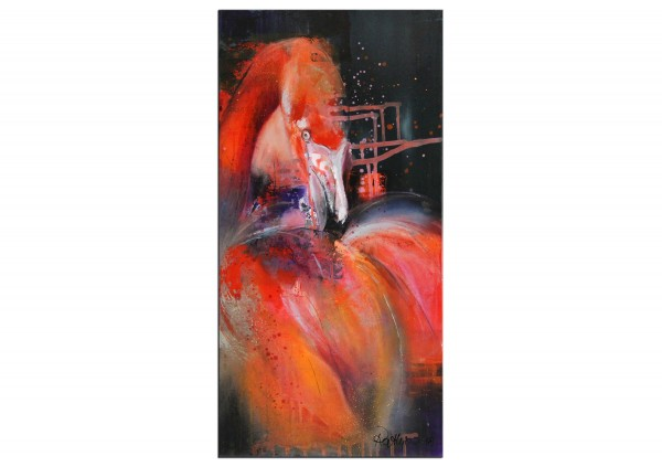 "Moderne Malerei, M. Rathje: ""Pretty Flamingo"" (A,G)"