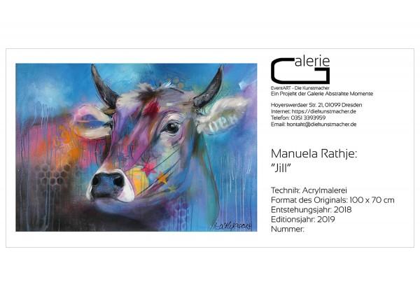 """Manuela Rathje: """"Jill"""", Sonderedition, Monatsgemälde als Kunstdruck"""