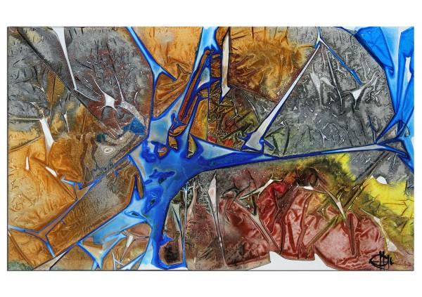 """Acrylgemälde, G. Hung: """"Streetart: Fragment I"""""""