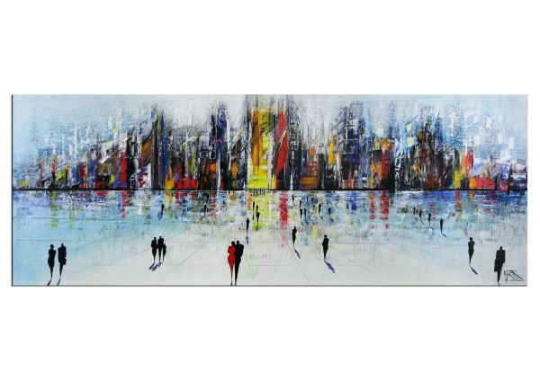 "Originales Acrylgemälde (Unikat), K. Namazi: ""Impressive Future I"" (A)"