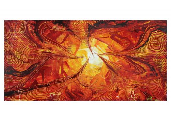 "Acrylmalerei abstrakt, Julio Fernandez: ""Liquid Fire III"""