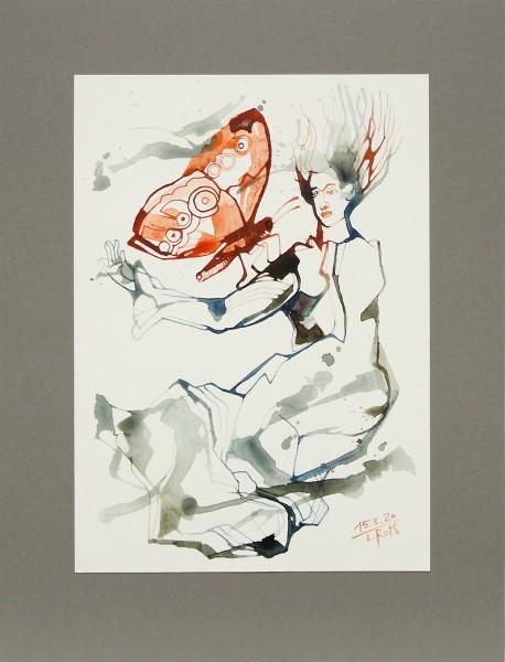 "L.Roth: ""Melancholia"", originale Grafik/Zeichnung (Unikat)"