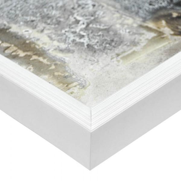 Premium Bilderrahmen, Fotorahmen weiß HR-22914-wg, inkl. entspiegeltem Echtglas