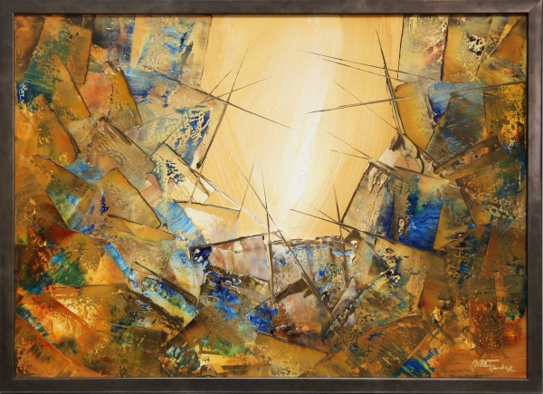 "Moderne Originalkunst (Unikat), Julio Fernandez: ""Blaue Erdkristalle VII"" (ri)"