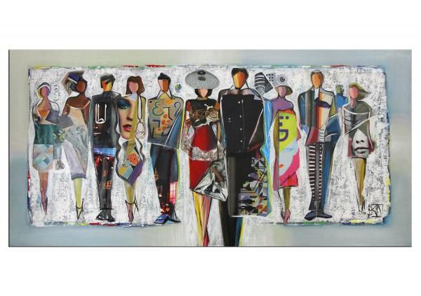 """Modernes Gemälde von K. Namazi: """"Mode Show"""" (A)"""