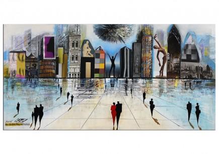 """Modernes Gemälde, K. Namazi: """"Der direkte Weg zur Freiheit"""" (E)"""