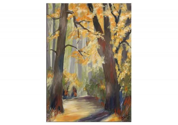 """Modernes Acrylgemälde, M.Kühne: """"Herbsttag"""""""