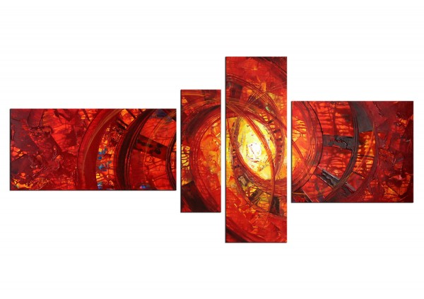 "Acrylbilder, R.König: ""Liquid Red V"" (ri)"