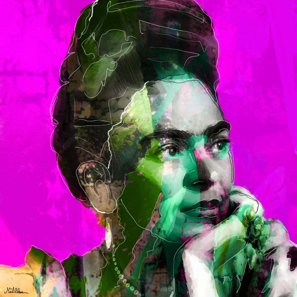 "H. Mühlbauer-Gardemin: ""Pink Frida"", Moderne Pop Art, Original/serielles Unikat"