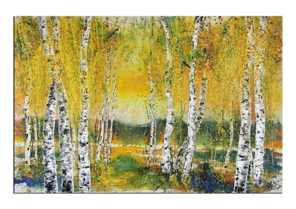 """Gemälde abstrakt, Maya: """"GOLDENER HERBST"""""""