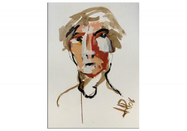 """Neoexpressionismus, Porträt, J.J. Piezanowski: """"N'écris pas!"""""""