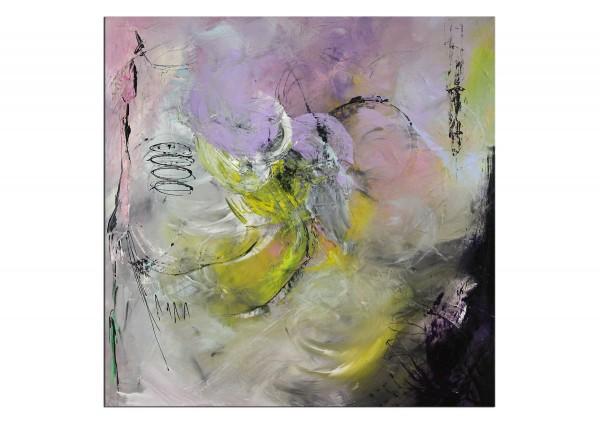 """Abstrakte Acrylmalerei, C. Middendorf: """"Rosarote Wolken I"""""""