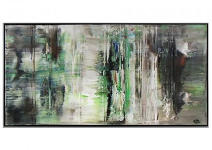"Acrylgemälde, G. Hung: ""Wartende im Nebel"" (ri)"