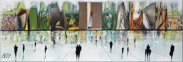 "K. Namazi: ""Virtuelle Fassaden II"", moderne Originalkunst (Unikat) (ri, A)"