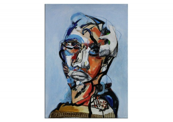 """Neoexpressionistische Malerei von J.J. Piezanowski: """"Mon coeur est ensablé I"""""""