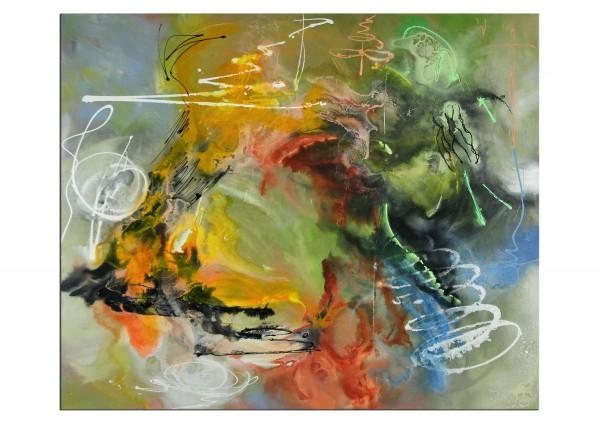 "Abstrakte Acrylmalerei, C. Middendorf: ""Zirkusmanege"", Originalgemälde (Unikat) (A)"