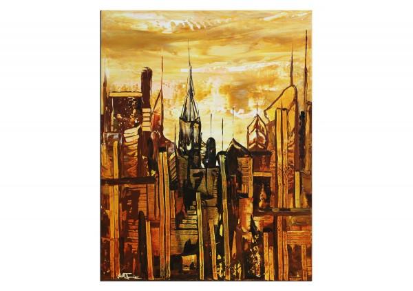"Acrylmalerei abstrakt, Julio Fernandez: ""Inspired by Gotham II"" (ri)"