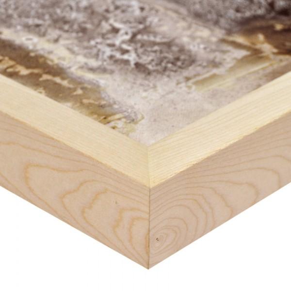 Premium Bilderrahmen Holz Ahorn HR-M2545A11-a, inkl. Blendrahmbleche