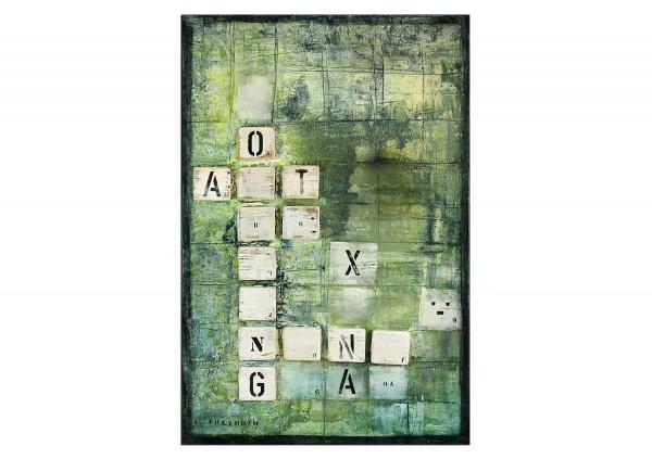 "Acrylmalerei abstrakt, A. Freymuth: ""Wortspiel"" (A)"