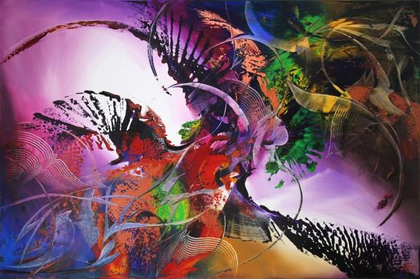 """G. HUNG: """"Titan I"""", abstrakte Originalkunst (Unikat)"""