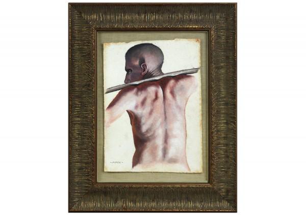 "Psychologischer Realismus/Studie in Öl von André Mimor: ""Seelenesser"" (A)"