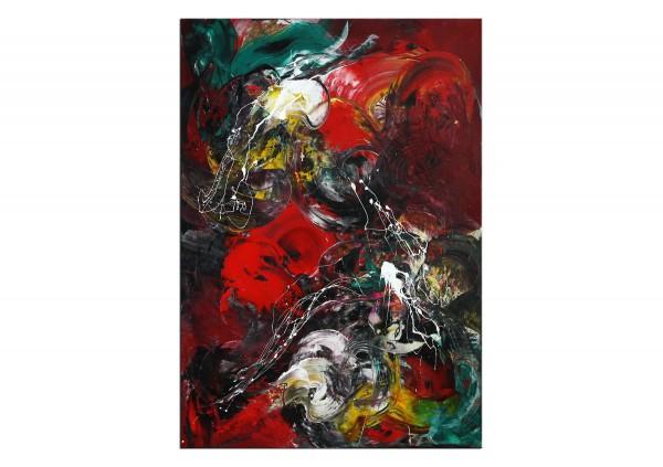 "Abstrakte Acrylmalerei, C. Middendorf: ""Tomatenstrauch"" (A)"